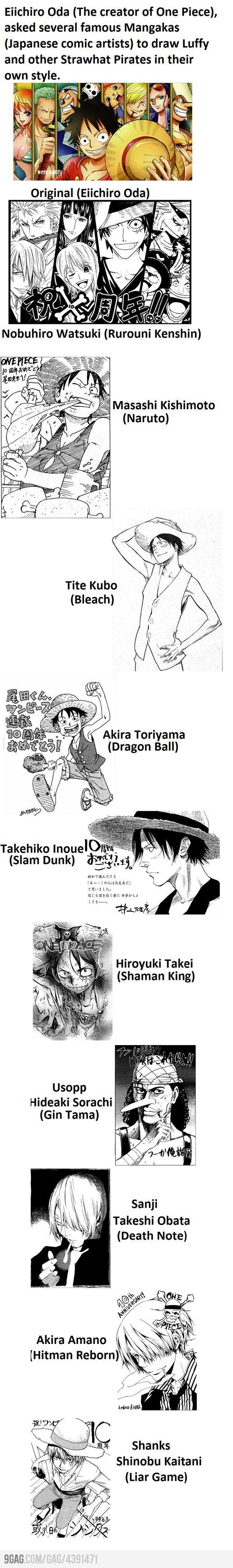 I like Obata's rendition of Sanji.