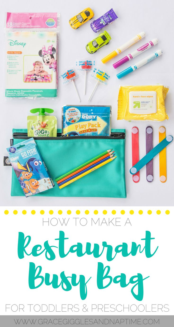 How to Make a Restaurant Busy Bag for Toddlers & Preschoolers