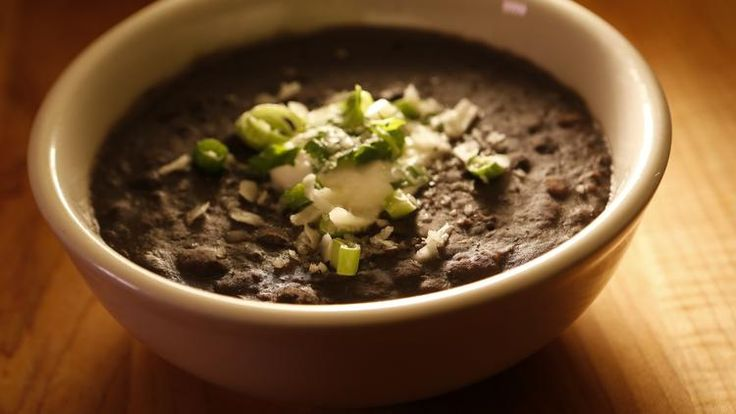Smoky black bean stew
