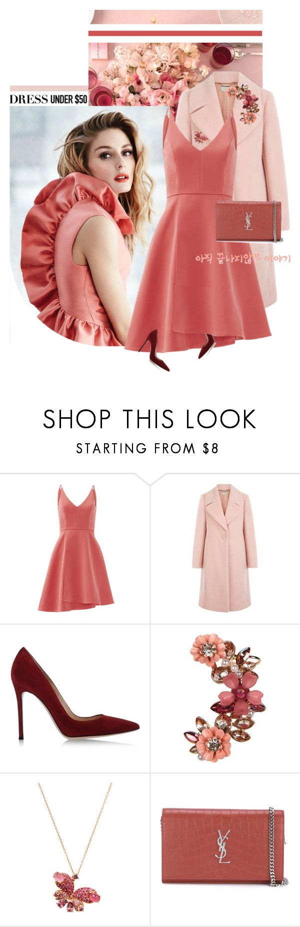 """""""Kilig"""" by chebear ❤ liked on Polyvore featuring Gabor, Keepsake the Label, Hobbs, Gianvito Rossi, New Look, Novarese, Yves Saint Laurent and Dressunder50"""