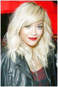 Check out over 40 sexy, stylish fringe ideas! WE love Rita Ora side-sweeping fringe! hair, hairstyles, new hairstyles, celebrity hairstyles, fringes, ...