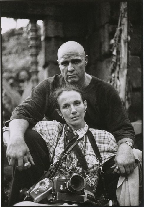 Mary Ellen Mark self portrait w Marlon Brando 1979 (on the set Apocalypse now)