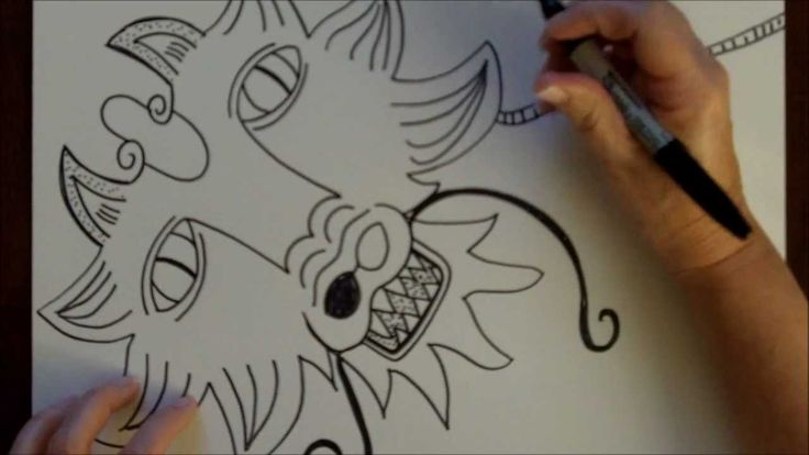How to Draw a Dragon Step-by-Step Drawing Tutorial Free Art Lesson For early finishers & my students loved it