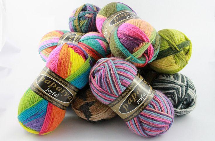 Papatya Joyful Ekose ip Color pooling yarn