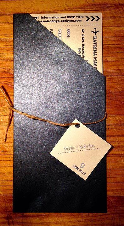 Boarding Pass Wedding Invitation by studiorosedesign on Etsy