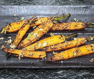 Grilled Carrots with Sesame, Lime and Ginger Recipe