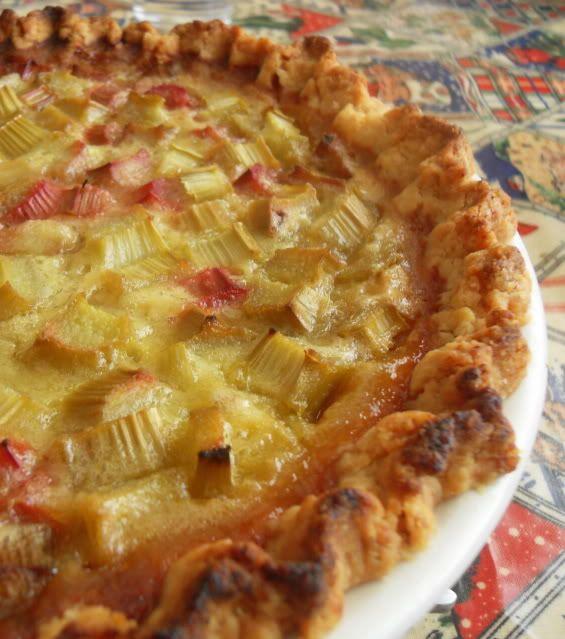 The English Kitchen: Rhubarb Custard Pie