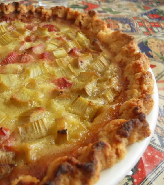 The English Kitchen: Rhubarb Custard Pie - my grandma used to make this... brings back memories!