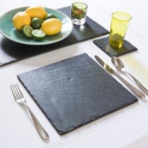 Modern Black Slate Place Mat