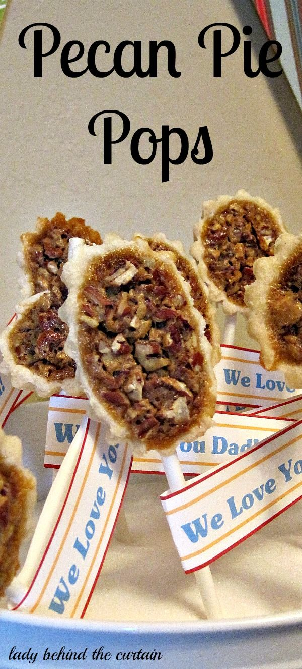Lady Behind The Curtain - Pecan Pie Pops