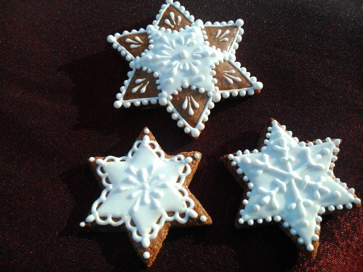 Christmas stars made of Choco Honiees #cookies