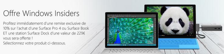 En ce moment bénéficiez de 10% de réduction sur la Surface Pro 4 et le Surface Book ! Cest définitivement LA période pour renouveler son matériel après une offre sur la Xbox One disponible à seulement 249 et 30 de réduction sur le Microsoft Store Microsoft lance la meilleure offre que vous pourrez trouver sur le web si vous souhaitez vous offrir une Surface Pro 4 ou un Surface Book !  Profitez maintenant de cette nouvelle offre ! Pour accompagner le lancement des nouveaux Lumia 950 et 950XL…