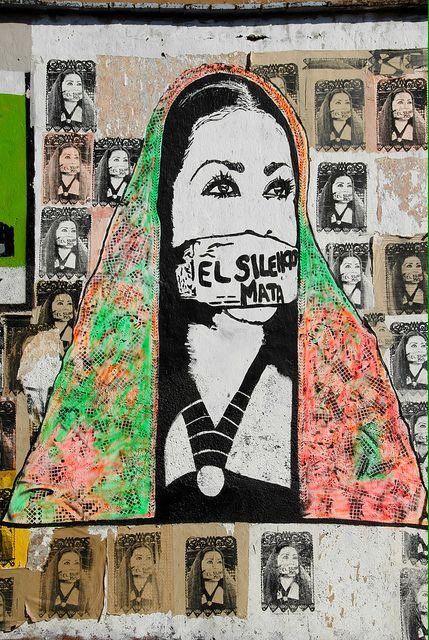 Mexican feminist street art. (Oaxaca)   #dvc16  via @GabyORosilly