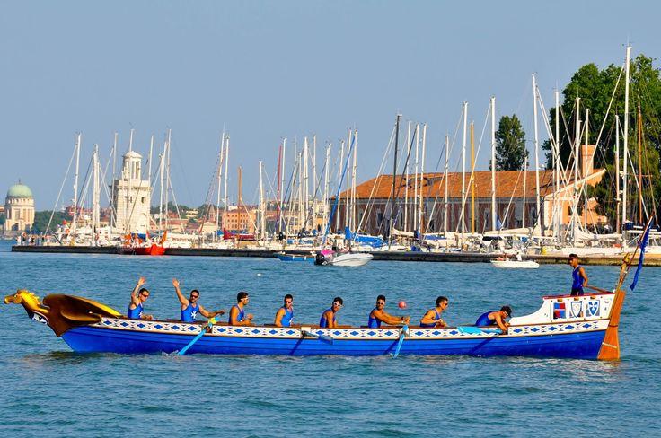 Amalfi's boat, Regatta of the Ancient Maritime Republics, Venice, Italy