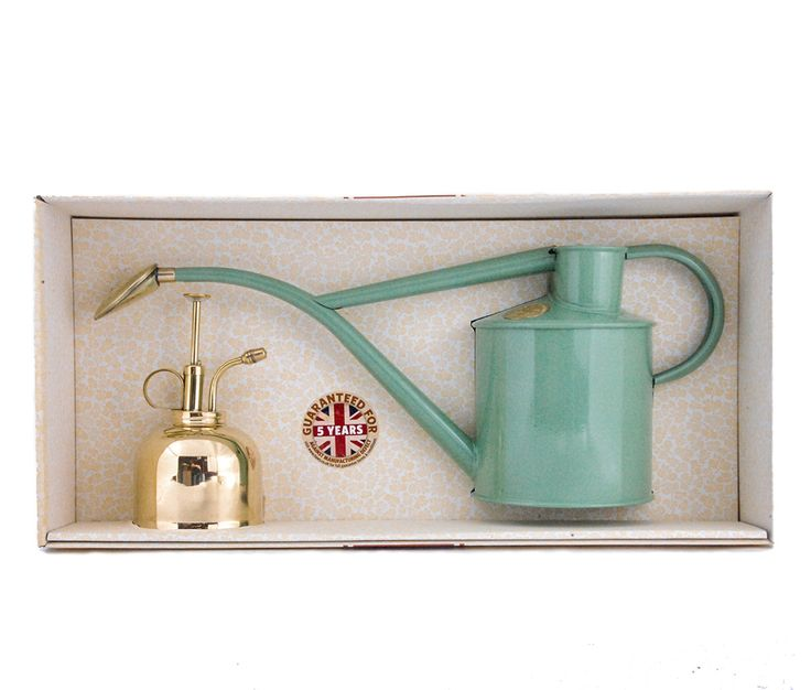 Indoor Watering Kit with Brass Mist Sprayer - Haws Watering Cans