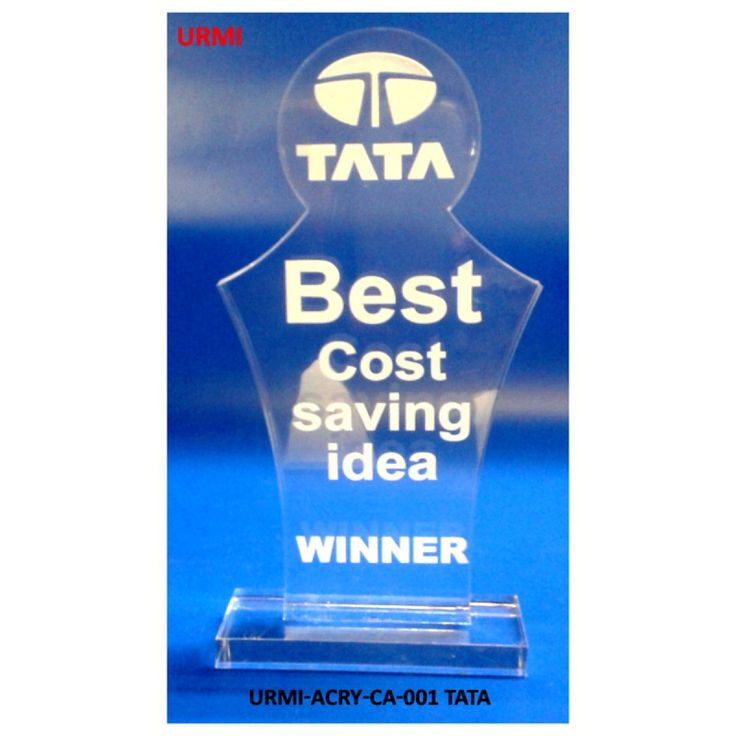 URMI-ACRY-CA-001 TATA Acrylic Trophy Trophy, Awards, Memento, Souvenir, Medal, Rewards, Cascade, Plaque, Giftcentre www.giftcentre.co.in Google Facebook instagram pininterest linkedin twitter whatsapp export Bank