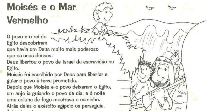 HISTÓRIA BÍBLICA MOISÉS E O MAR VERMELHO PARA CRIANÇA DE EBD.   FONTE A REVISTA CAMINHANDO DA EDITORA JUERP.   CLIQUE NAS IMAGENS PARA SA...