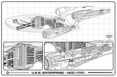 "Cutaway of the new USS Enterprise! It's available as a 35""x23"" print! You can purchase it here: www.cafepress.com/michaelwiley…"