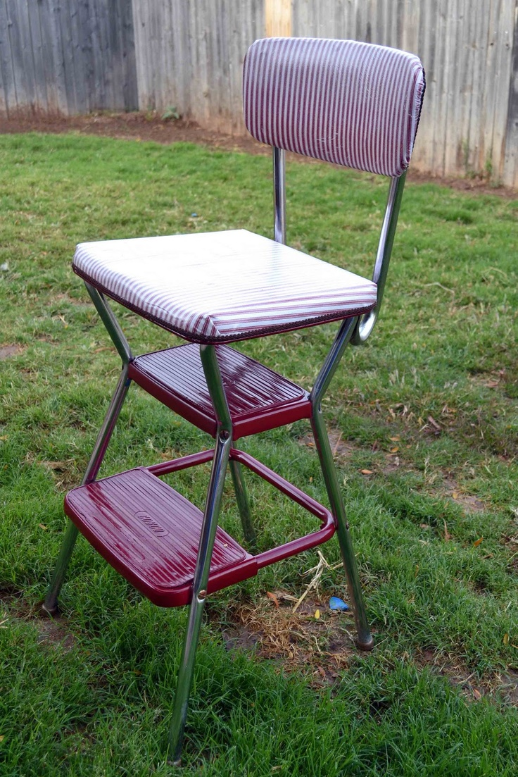 Spiffy Vintage Step Stool Chair Makeover & 104 best antique cosco stools images on Pinterest | Costco Step ... islam-shia.org