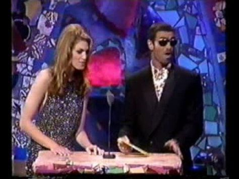 1991 MTV Video Music Awards George Michael & Cindy Crawford present Best Video of the Year.