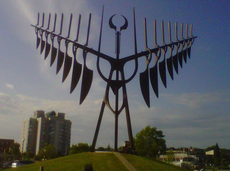 Barrie, Ontario, Canada....This is the Spirit Catcher, it is a sculpture originally created by sculptor Ron Baird