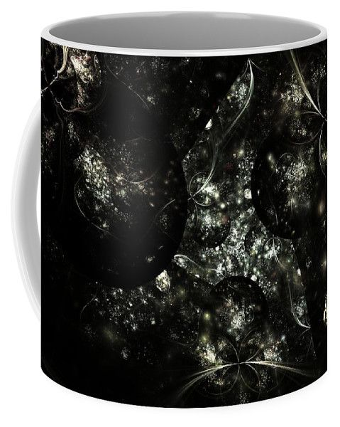 Fractal Coffee Mug featuring the digital art Cosmology by Elena Ivanova IvEA  #ElenaIvanovaIvEAFineArtDesign #Decor #Mug #Cup #Gift