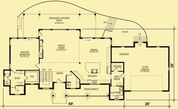 Architectural House Plans Floor Plan Details Tall Rear
