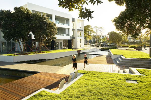 This 700 Million Australian dollar residential development by Hassall Landscape Architecture has exceptional landscape design.