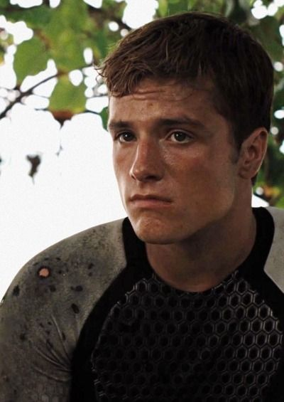 Peeta pretty cute amazing and awesome and really cool and very sweet but tuff and strong.