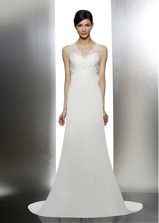 GORGEOUS SATIN TULLE A-LINE V-NECK WEDDING DRESS STYLES WITH BEADINGS LACE APPLIQUES PARTY GOWN CUSTOM SIZE