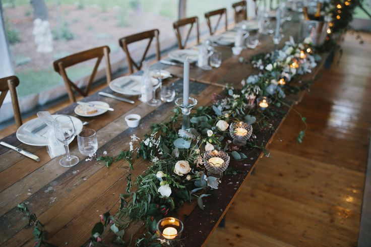 vintage timber trestle tables, timber cross back chairs, glassware, crockery, cutlery, south coast weddings, south coast party hire