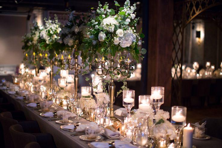 George Restaurant wedding reception French romance table decor