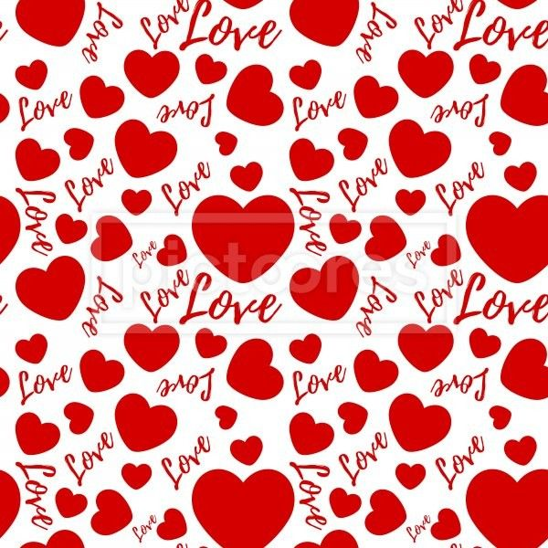 seamless pattern with valentines hearts