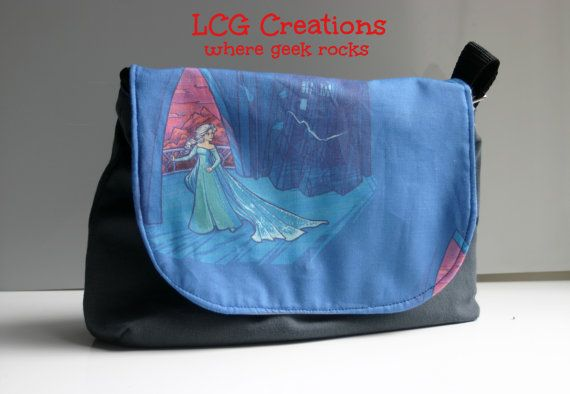 Dr Who / Frozen / Elsa  Themed Sophie Hand Bag With Adjustable Strap and Magnetic Clasp Closure