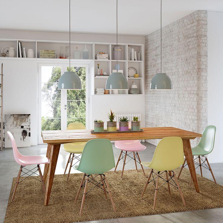 L mparas y sillas colores sal n comedor cocina for Sillas salon comedor