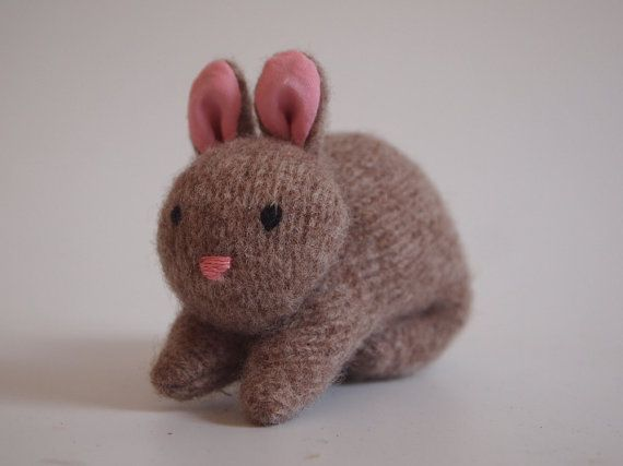 Bunny Rabbit ecofriendly stuffed toy all by EvesLittleEarthlings