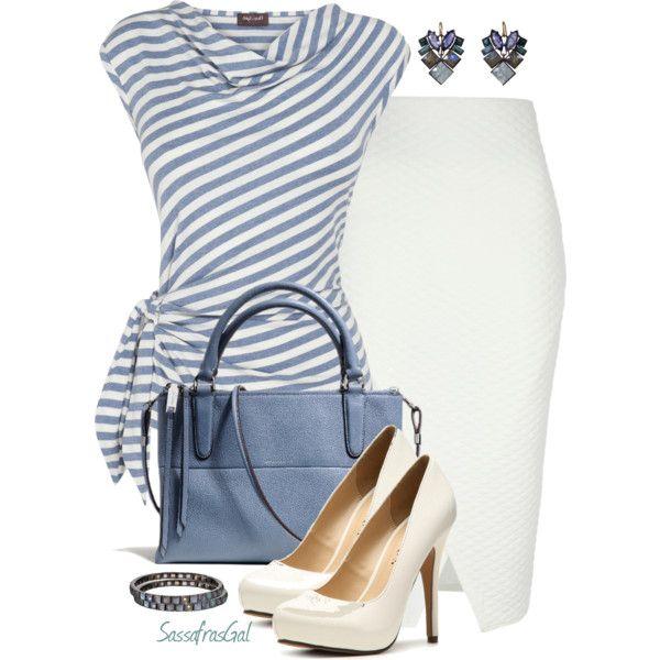 Dica:Uma blusa simples, uma saia branca, sapatos altos e acessorios para uma visual mais chic.