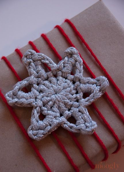 The Glittery Crochet Stars in 2 Rounds are so fast and fun you'll want to keep making them right on through the holidays! Less than 10 yards of yarn each!