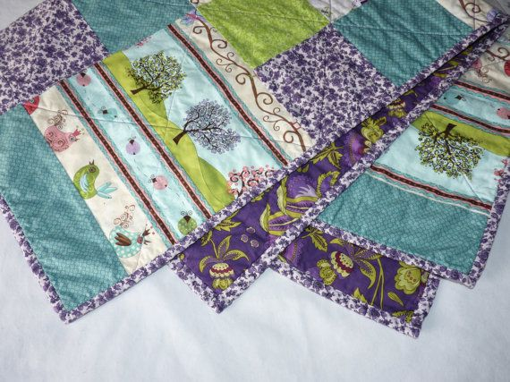 One of a kind, beautiful Girls Crib Quilt on Etsy, $120.00 CAD