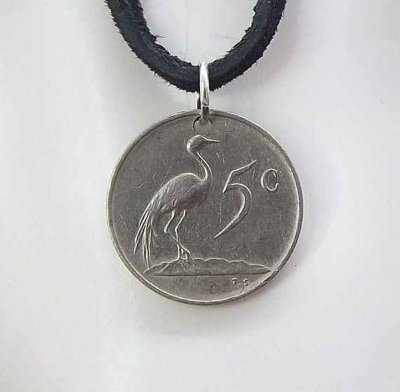 Bird Coin Necklace South Africa 5 Cents Coin Pendant