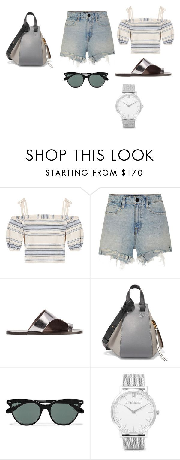"""""""Sin título #1909"""" by ceciamuedo ❤ liked on Polyvore featuring Lemlem, Alexander Wang, All Tomorrow's Parties, Loewe, Ray-Ban and Larsson & Jennings"""