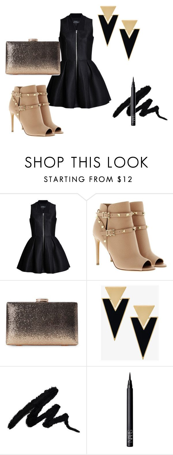 """""""Look for Party #1"""" by quelstylist on Polyvore featuring moda, Lavinia Cadar, Valentino, Yves Saint Laurent e NARS Cosmetics"""