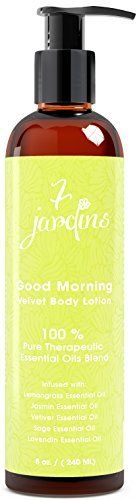 7 Jardins Good Morning Velvet Body Lotion – Daily Body Moisturizer For All Skin Types Enriched With A Lemongrass, Jasmine, Vetiver, Sage And Lavendin Essential Oils – Safe & Sulfate Free - http://best-anti-aging-products.co.uk/product/7-jardins-good-morning-velvet-body-lotion-daily-body-moisturizer-for-all-skin-types-enriched-with-a-lemongrass-jasmine-vetiver-sage-and-lavendin-essential-oils-safe-sulfate-free/