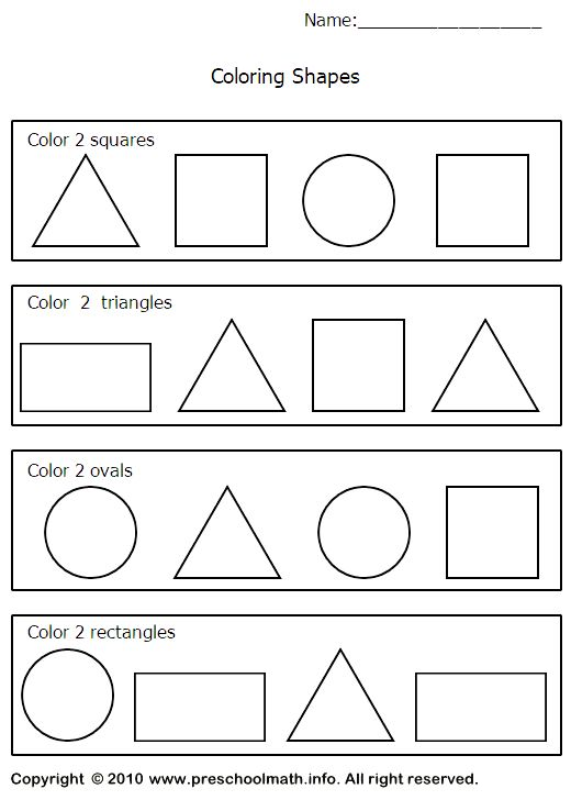 image detail for shapes worksheets for for preschool kindergarten first grade - Free Printable Activity Sheets For 5 Year Olds