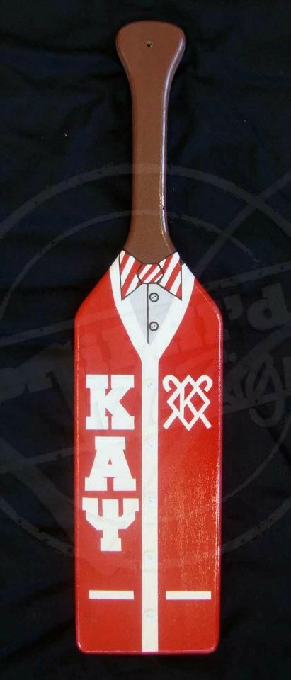 Kappa Alpha Psi cardigan paddle