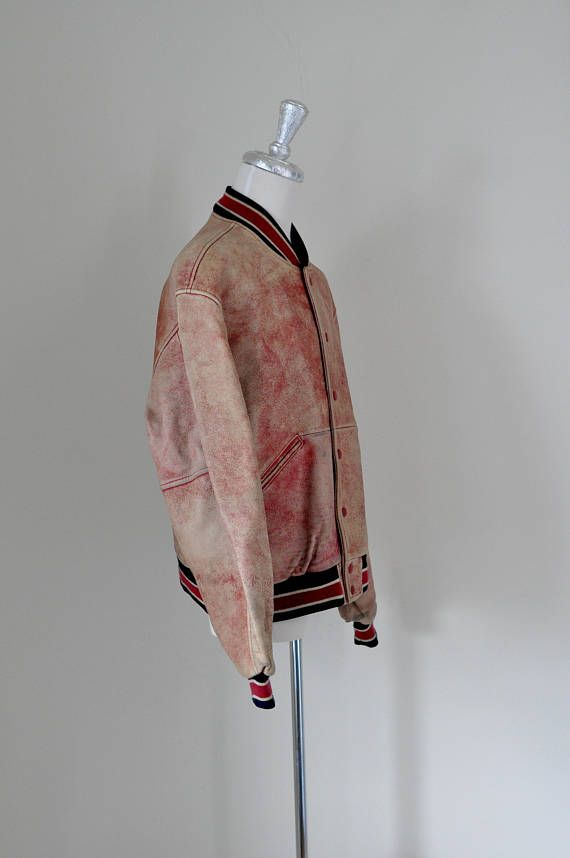 90s vintage UNITED COLORS of BENETTON leather bomber jacket