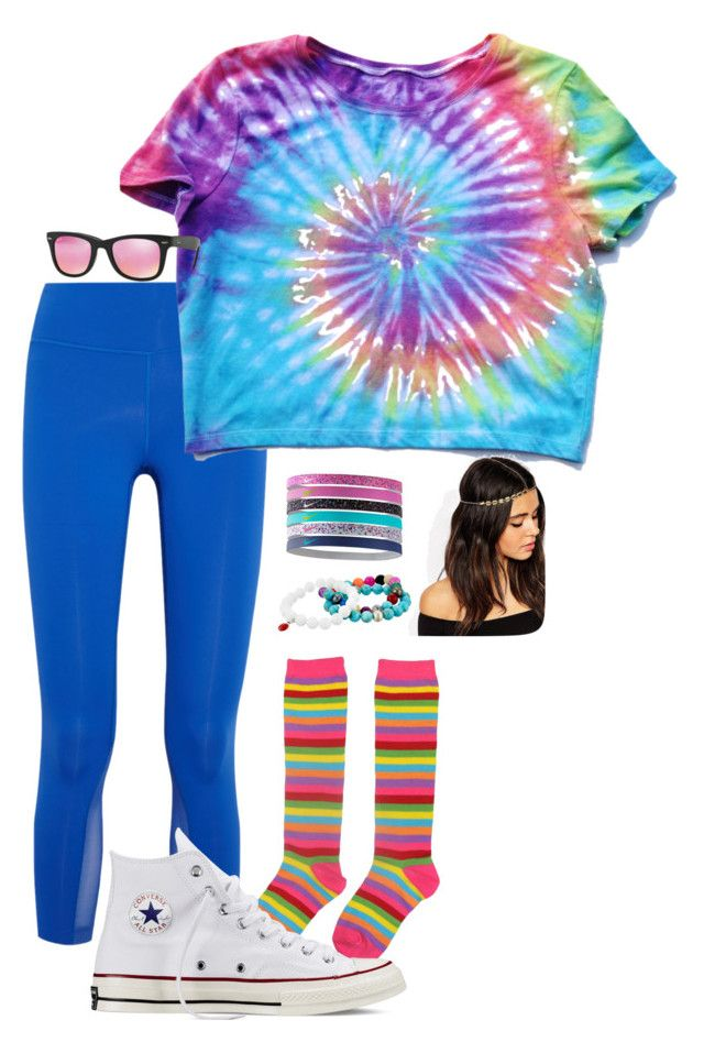 """Homecoming 2k15:Decade Day"" by morgzz-07 ❤ liked on Polyvore featuring NIKE, Converse, ASOS, Dee Berkley and Ray-Ban"