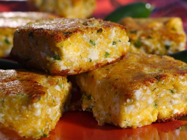 Spicy Polenta Cakes from Guy's Big Bite: Food Network, Guy Fieri, Side Dishes, Recipe, Spicy Polenta, Breads, Polenta Cakes, Guys