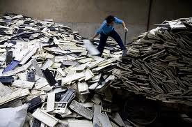 In this image, a man is sifting through the electronic devices searching for pieces of metal. This metal is then taken out of the electronic devices and brought to a scrap metal yard where it can be traded for money. In this country, our garbage has become a means of income for its inhabitants. Furthermore, while the metal is sold and recycled for use, what is left of the electronic device remains as garbage in the large, vast wastelands.