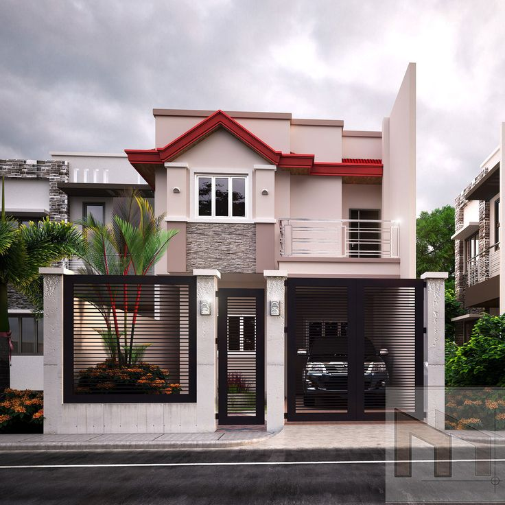 Two Story House Elegant Shape 2 Bedrooms